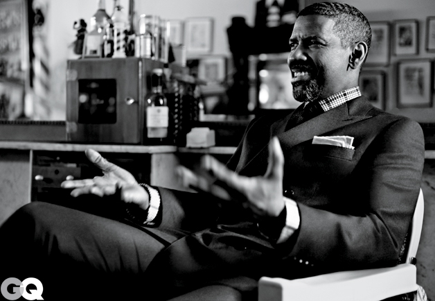 BEHIND DENZEL'S GQ COVER