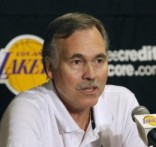Lakers head coach Mike D'Antoni announces he is unable to coach his new team against the Rockets, due to recovery from a knee operation, in Los Angeles